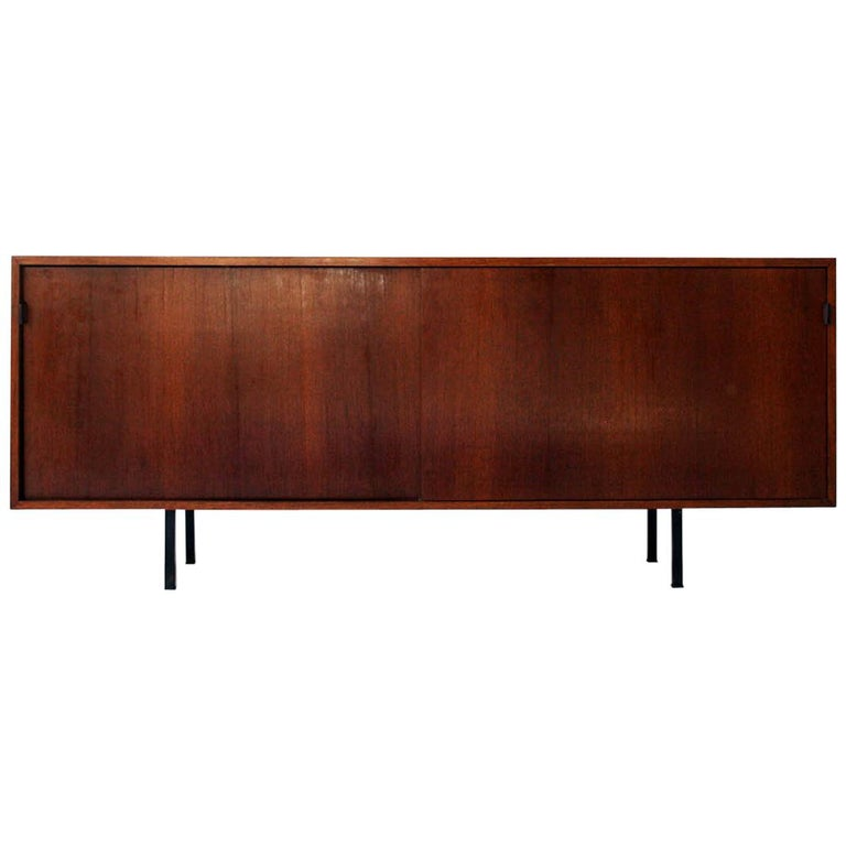 Early Walnut Credenza by Florence Knoll for Knoll