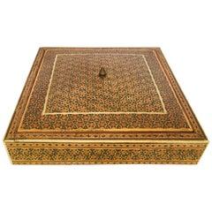 Persian Micro Mosaic Inlaid Jewelry Box