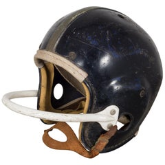Vintage Football Helmet with Leather Chin Strap, circa 1950