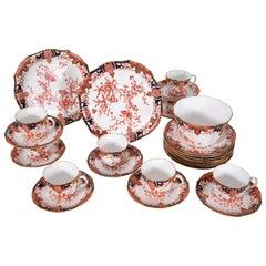 Antique English Porcelain Luncheon Set Royal Crown Derby