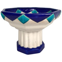 Art Deco Period Ceramic Compote by Boch Freres