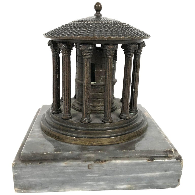 19th Century Neoclassical Grand Tour Bronze Model of the Temple of Vesta, Rome