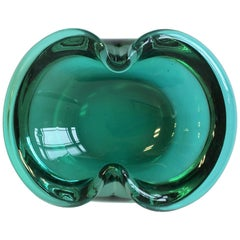 European Emerald Green Art Glass Bowl