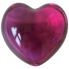 Baccarat Red Raspberry Heart Paperweight or Decorative Object