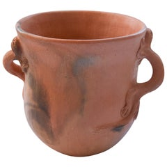 Mexican Rustic Pot Folk Art Handmade Ceramic Vessel Terracotta Oaxaca Clay