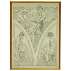 Alphonse Mucha Poster from Figures Decoratives, 1905 Plate 1