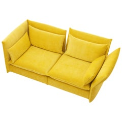 Vitra Mariposa 2 1/2-Seat Sofa in Lemon/Curry by Edward Barber & Jay Osgerby