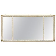 Neoclassic Style Crème Painted and Giltwood Overmantle Mirror