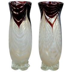 Murano Blown Glass Bud Vases
