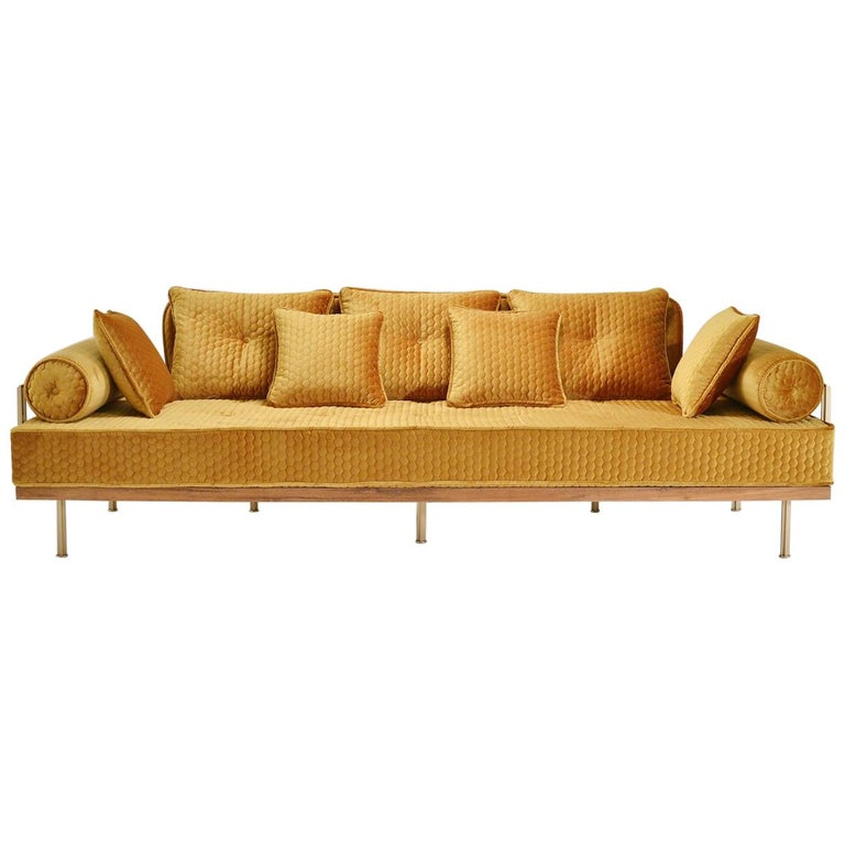Bespoke Sofa With Br And Reclaimed Hardwood Frame By P Tendercool In Stock For
