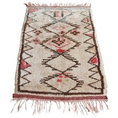 Small Middle Atlas Rug with Pink Pattern