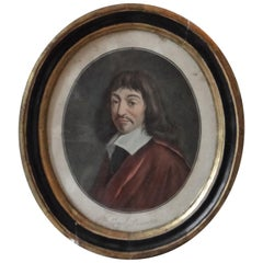 Engraving of Descartes by Pierre Michel Alix painted by Garnerey