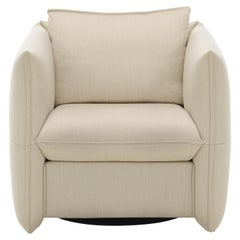 Vitra Mariposa Club Armchair in Ivory by Edward Barber & Jay Osgerby 'Laser'