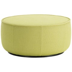 Vitra Mariposa Large Ottoman in Lemon Volo by Edward Barber & Jay Osgerby