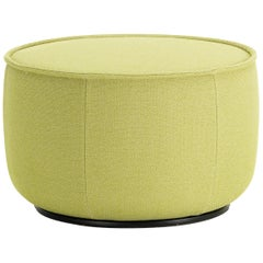 Vitra Mariposa Medium Ottoman in Lemon Volo by Edward Barber & Jay Osgerby