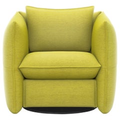Vitra Mariposa Club Armchair in Lemon by Edward Barber & Jay Osgerby 'Iroko 2'