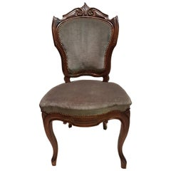 Chairs Luigi Filippo Style in Walnut Made at the End of the 19th Century