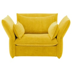 Vitra Mariposa Loveseat in Lemon by Edward Barber & Jay Osgerby 'Iroko 2'