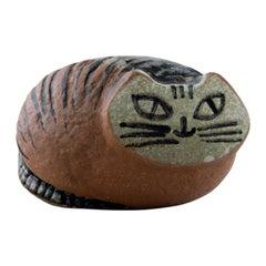Lisa Larson for Gustavsberg, Stoneware Figure of Lying Cat