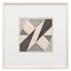 1950s Black and Grey Drawing by Lygia Clark