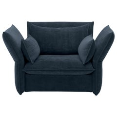 Vitra Mariposa Loveseat in Steel Blue by Edward Barber & Jay Osgerby 'Iroko 2'