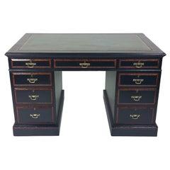 19th Century Aesthetic Movement Ebonized Pedestal Desk