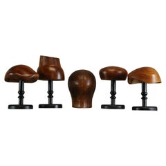 Collection of 5, 20th Century Hat Forms