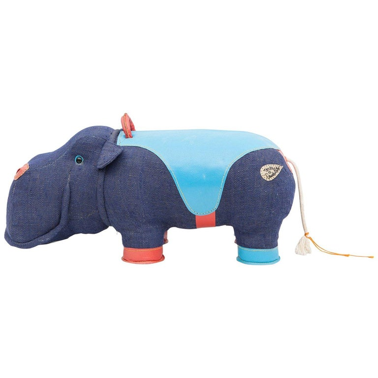 2000s High-Quality Children Toy 'Hippo' by German Renate Müller 'a' For Sale