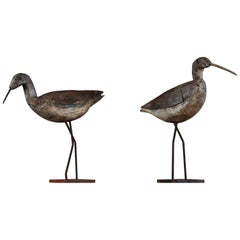 Pair of Early 20th Century Working Curlew Decoys