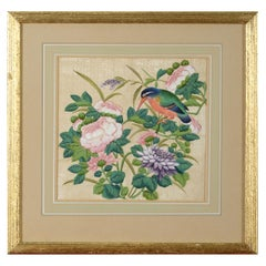 19th Century Chinese Export Silk Painting