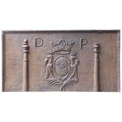 "17. Jahrhundert, Französische Louis XIV ""Coat of Arms"" Kaminplatte"