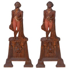 Pair of Mid-20th Century Georges Washington Andirons
