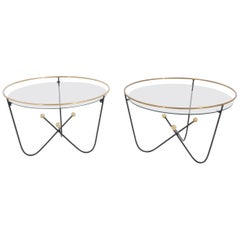 Pair of Low Side Table or End Table by Edward Ihnatowicz Mars Furniture