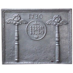 18th Century French Louis XIV 'Pillars with IHS Monogram' Fireback