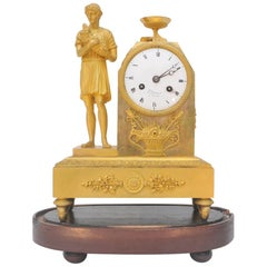French Empire Period Ormolu Mantel Clock