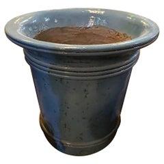 Blue Terra Cotta Planter