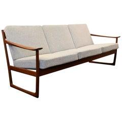 Vintage Peter Hvidt & Orla Mølgaard Nielsen Teak FD-130 3-Seat Sofa