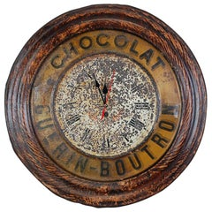 Original French Chocolat Guerin Boutron Advertising Clock