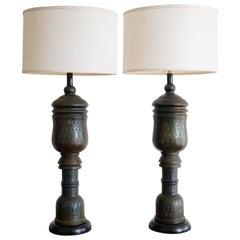 Pair of Italian Ceramic Lamps by Bitossi, 1960s