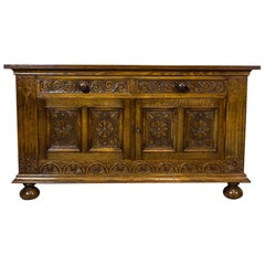 19th Century Neo-Renaissance Oak Cabinet or Sideboard