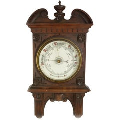 Antique Barometer, Aneroid Barometer, Decorative Barometer, Scotland, 1890