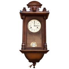 20th Century Hermle German Mechanical Regulatory Walnut Wall Clock