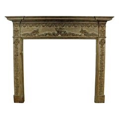 Antique Carved French Country Fireplace Mantel
