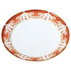 Set of Japanese Imari Contemporary Red Porcelain Dessert Plates