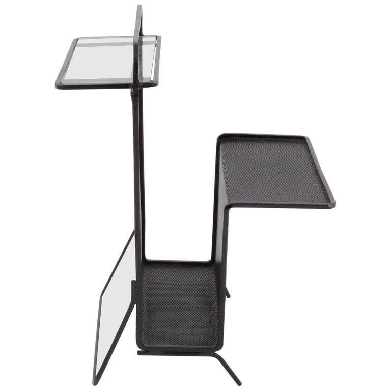 Mathieu Matégot Table Magazine Holder Ateliers Mategot, Referenced, End Table  For Sale