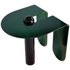 Playful Geometric Side Table by Birnam Wood Studio and Suna Bonometti