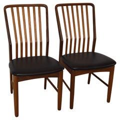 Pair of Mid-Century Modern Danish Teak Moreddi Chairs