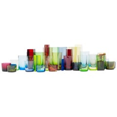 Polygon Glassware by Omer Arbel for OAO Works, Geometric Blown Glass Sculpture
