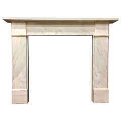 Antique 19th Century Victorian Statuary Marble Fireplace Surround