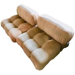 B&B Italia Camaleonda Mario Bellini Fabric Modular Sectional Sofa 2 Pieces